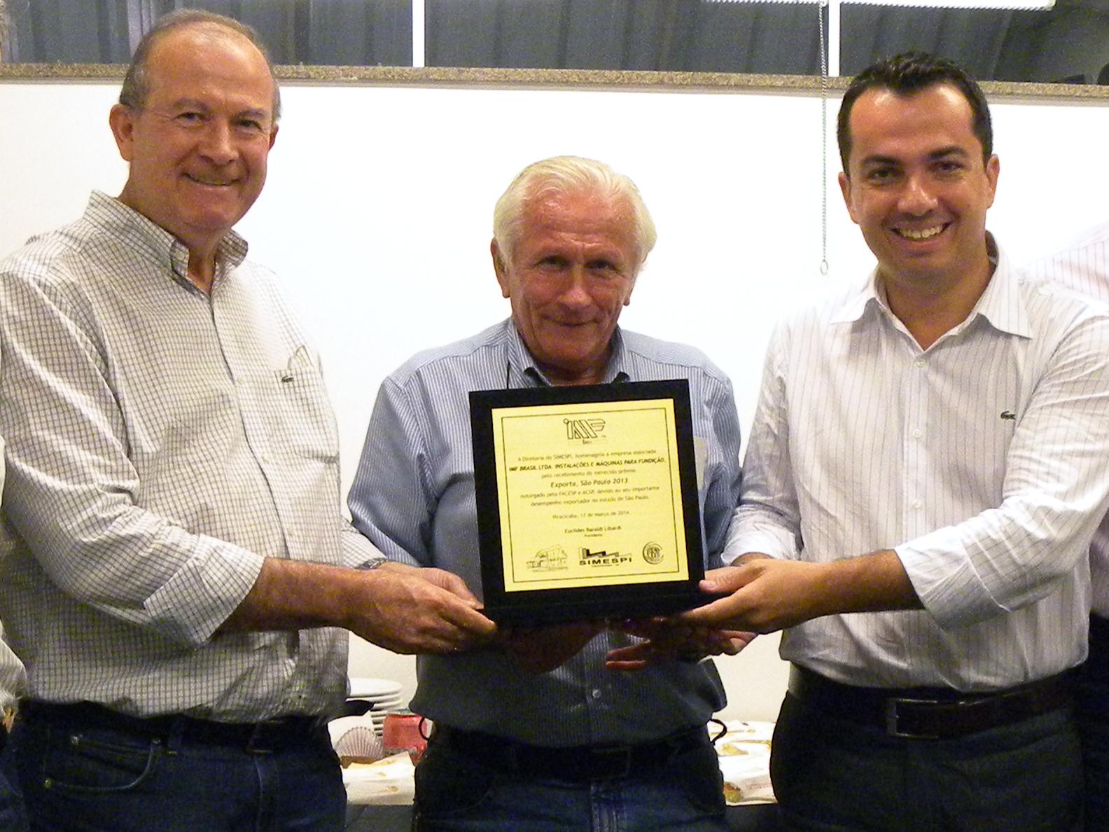 Simespi destaca conquista de premiação recebida pela empresa IMF Brasil