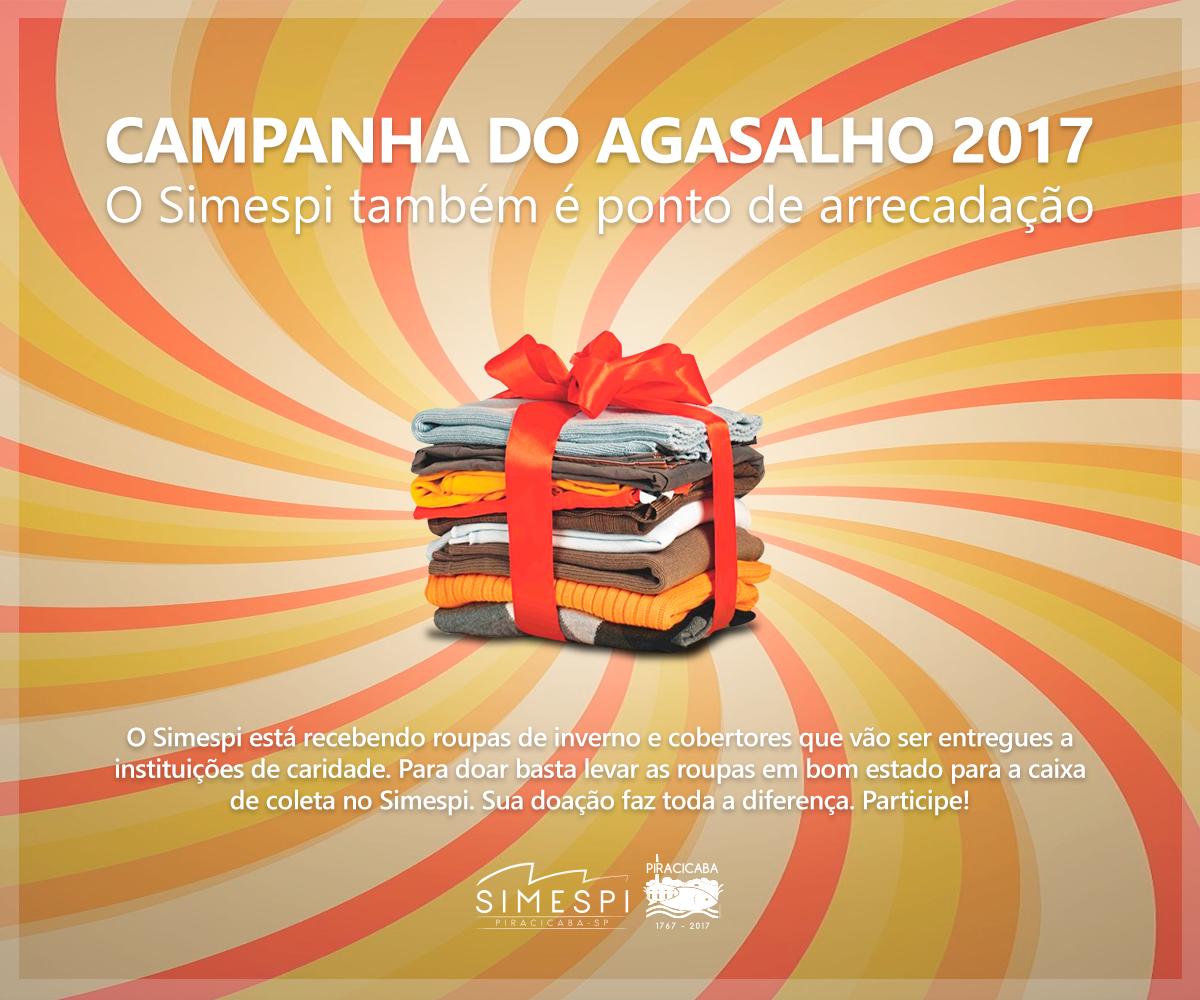 Doe agasalhos e cobertores no Simespi!