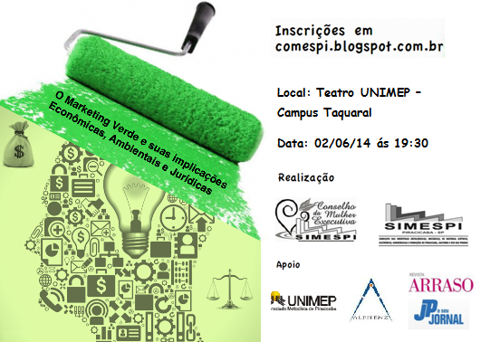 Comespi: promove palestra sobre marketing verde em comemoração ao Dia Mundial do Meio Ambiente