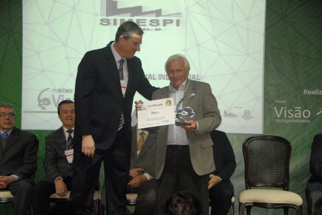 Simespi e associadas são homenageados no Prêmio VisãoAgro