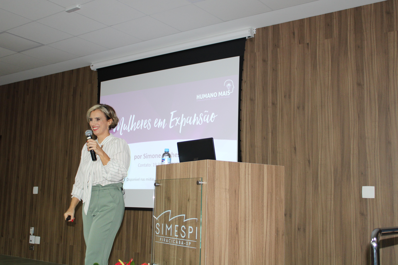 Palestra no Simespi celebra o Dia da Mulher com reflexões sobre os desafios do universo feminino