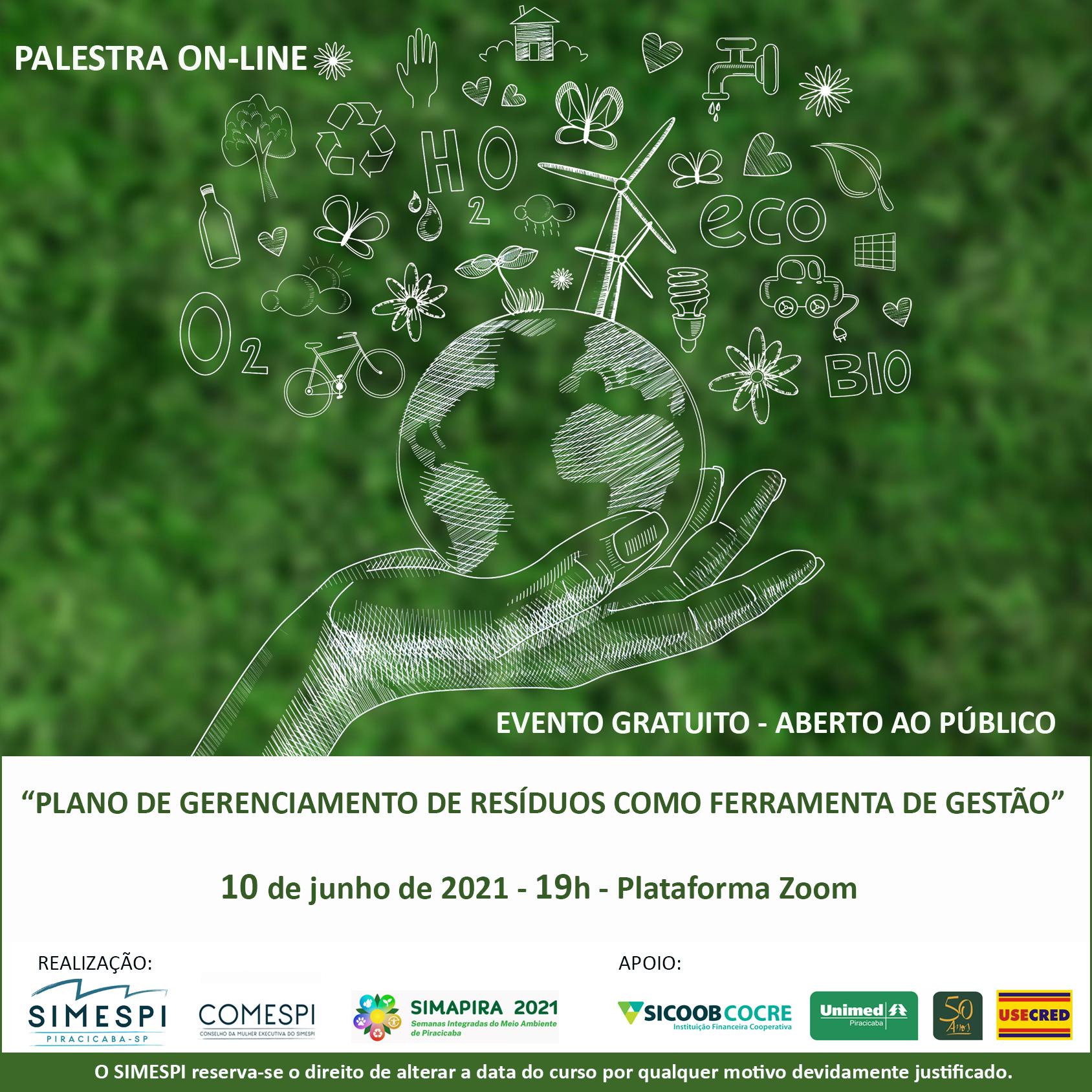 Simespi discute gerenciamento de resíduos sólidos na Simapira 2021